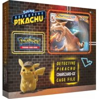 Detective Pikachu Pokemon Trading Cards- Charizard-Gx Case File + 6 Booster Pack + A Foil Promo Card + A Foil Oversize Card