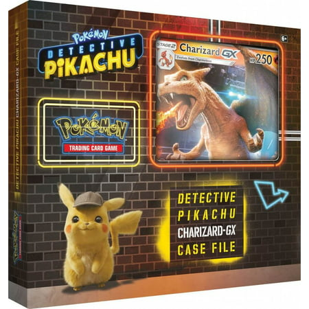 Detective Pikachu Pokemon Trading Cards- Charizard-Gx Case File + 6 Booster Pack + A Foil Promo Card + A Foil Oversize Card ()
