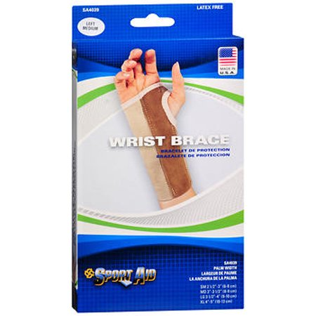 Sport Aid Left Wrist Brace Medium Long- 1