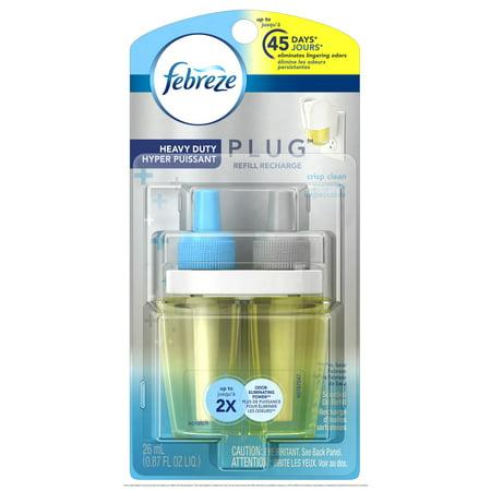 Febreze Plug Air Freshener Refill Heavy Duty Crisp Clean 1 Count 0 87 Oz