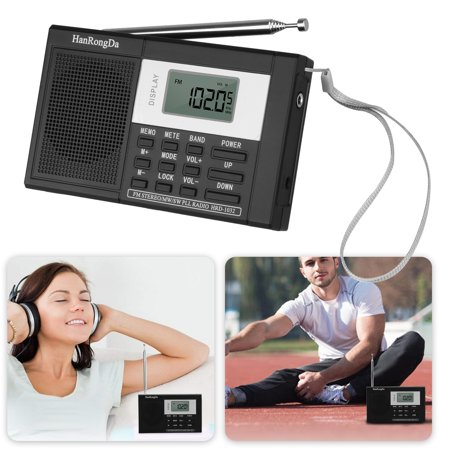 EEEKit Portable Digital MW/FM/SW Stereo Radio LCD Display High Sensitivity Shortwave MP3 Player Recorder with Sleep Timer & In-Ear Stereo