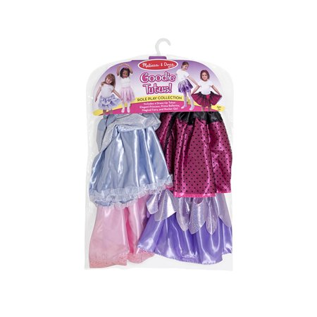 Melissa & Doug 4 Style Goodie Tutus Dress-Up Skirts, Role Play - Grease Dress Up Ideas
