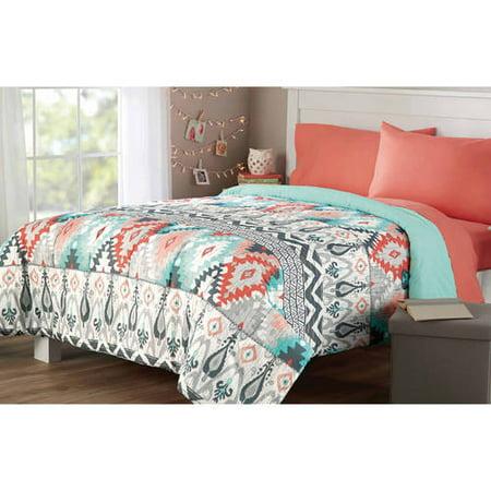 Mainstays Microfiber Bedding Comforter Walmart Com