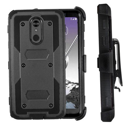 Mignova LG Stylo 5 Case,LG Stylo 5 Plus Case, Heavy-Duty Shockproof Full Body Protection Rugged Hybrid Case with Rotating Belt Clip and Bracket 2019