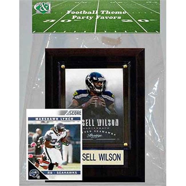 Candlcollectables 46LBSEAHAWKS NFL Seattle Seahawks Party Favor With 4 x 6 Plaque