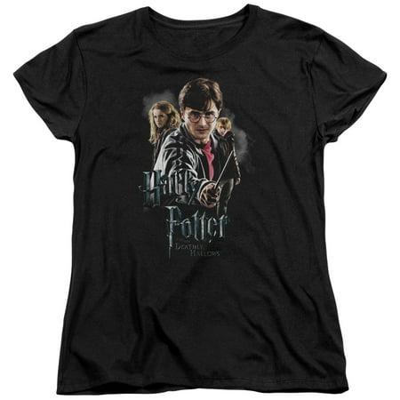Harry Potter - Deathly Hollows Cast - Women's Short Sleeve Shirt - Medium