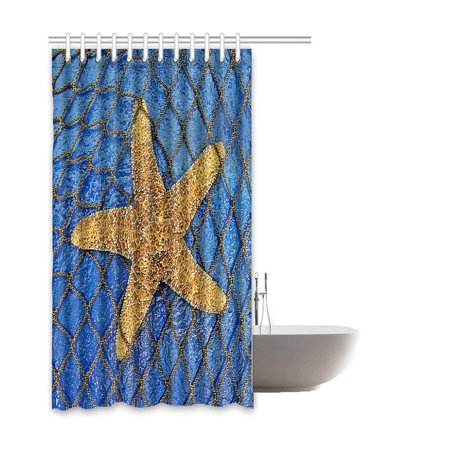 BOSDECO Starfish Waterproof Polyester Bathroom Shower Curtain 66x72 Inches - image 1 of 2