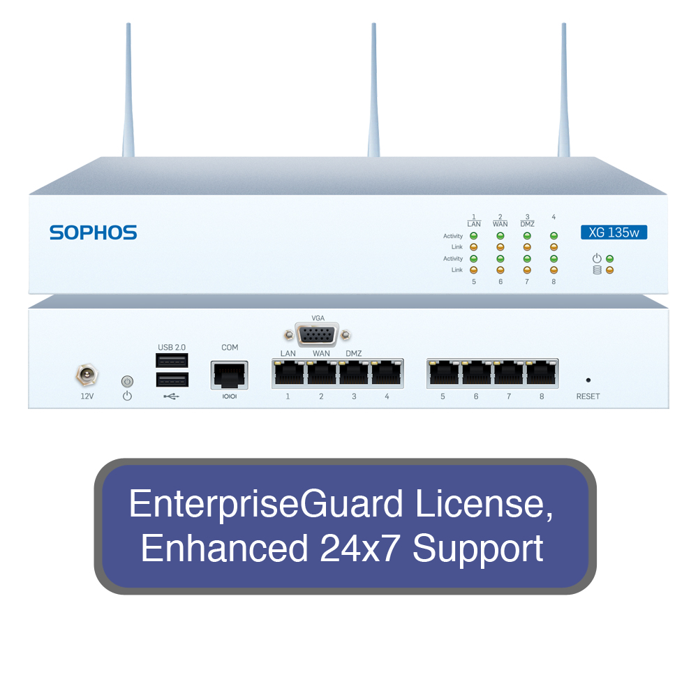 Sophos XG 135W Wireless Next-Gen Firewall EnterpriseProte...