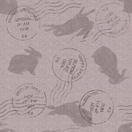 Burlap Bunnies pattern repeat 1 Print Wall Art By Holli Conger