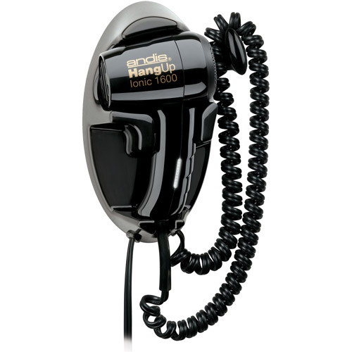 Andis Hang-Up Ionic 1600 Wall-Mounted Hair Dryer, Black