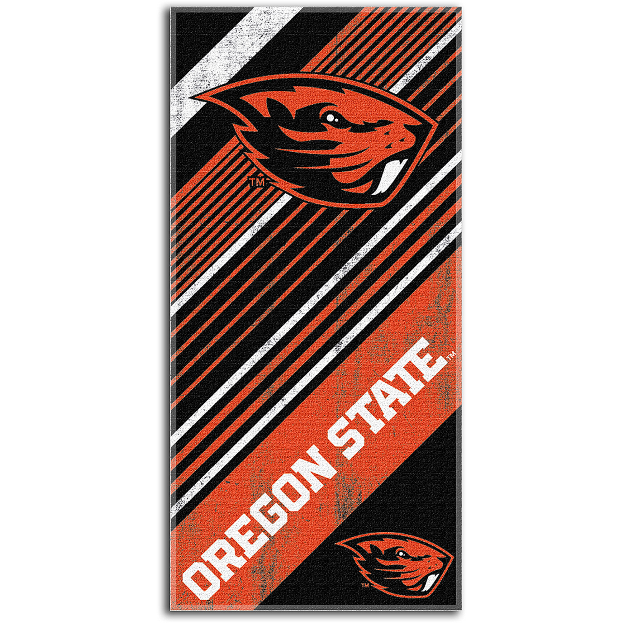 NCAA Beach Towel Diagonal Series, Oregon State University