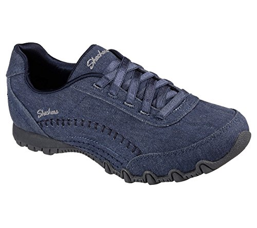 Skechers Relaxed Fit Bikers Layered Womens Slip On Sneakers Navy 9