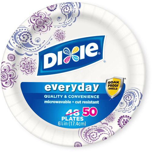 "Dixie Everyday Paper Plates, 6.875"", 50 count"