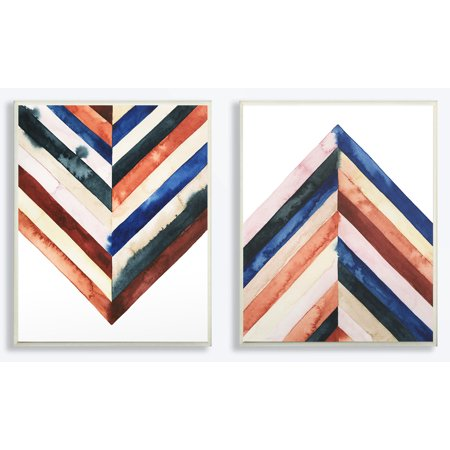 Stupell Industries Watercolor Layered Shapes 2pc Wall Plaque Art Set
