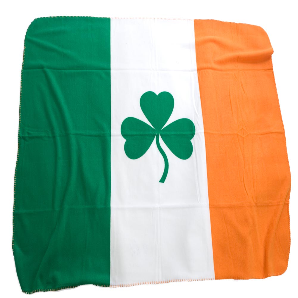 Irish Flag Fleece Blanket by Ruffin Flag Company