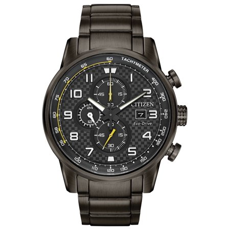 CA0687-58E Primo Men's Watch Black 45mm Grey Ion-Plated Stainless (Black Ion Stainless Steel Watch)