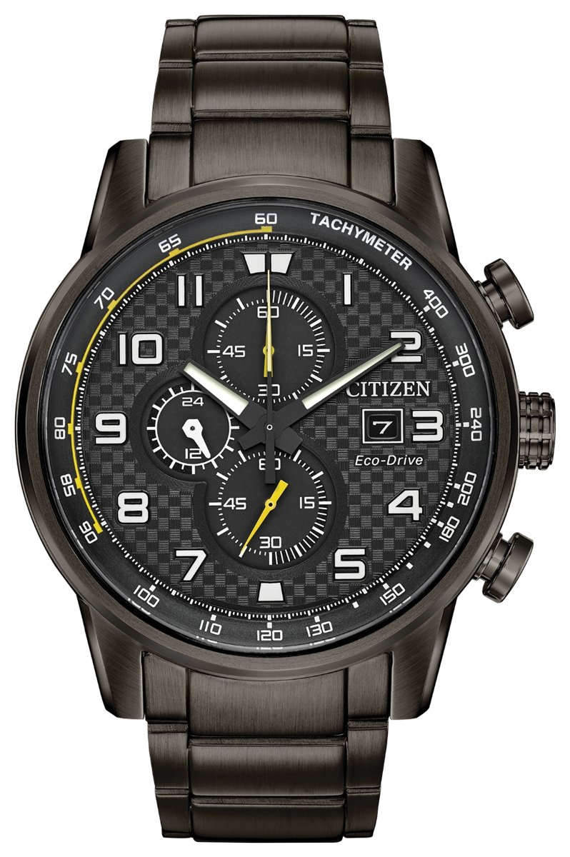 CA0687-58E Primo Men's Watch Black 45mm Grey Ion-Plated Stainless Steel