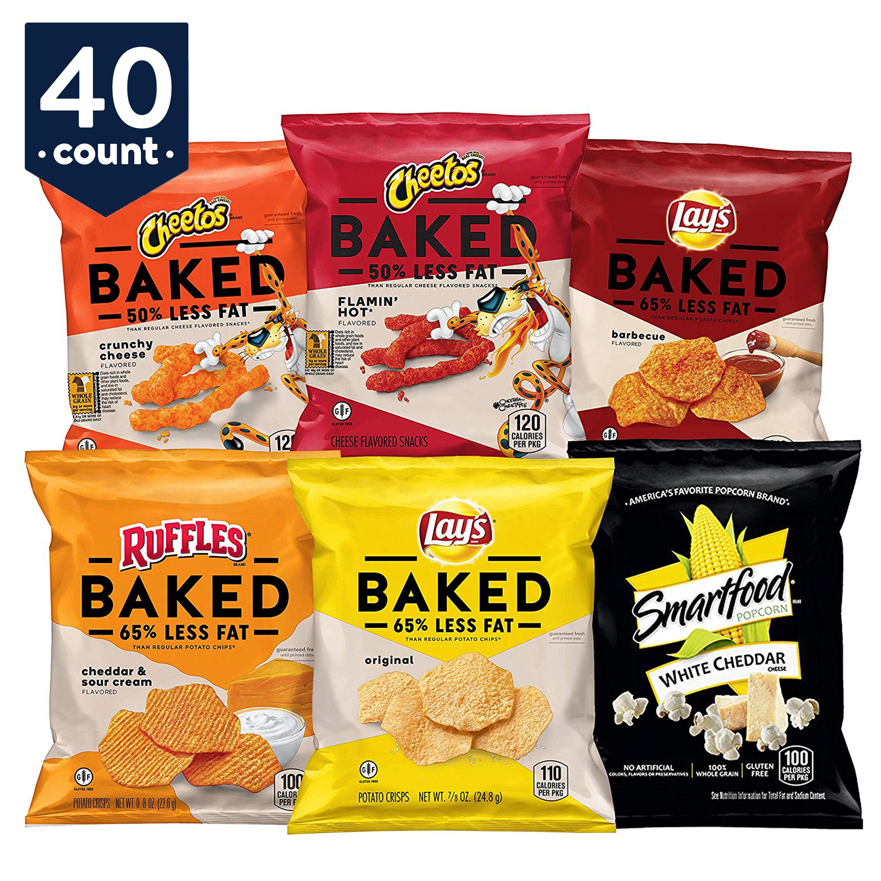 Frito-Lay Baked & Popped Mix Variety Snack Pack, 40 Count