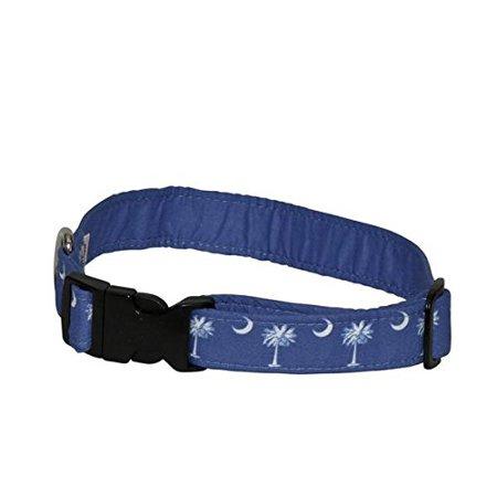 Elmo's Closet Palmetto & Crescent Moon Dog Collar - Petite, Made in the USA By Elmos Closet From USA
