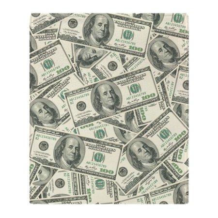 CafePress - 100 Dollar Bill Money Pattern - Soft Fleece Throw Blanket, 50