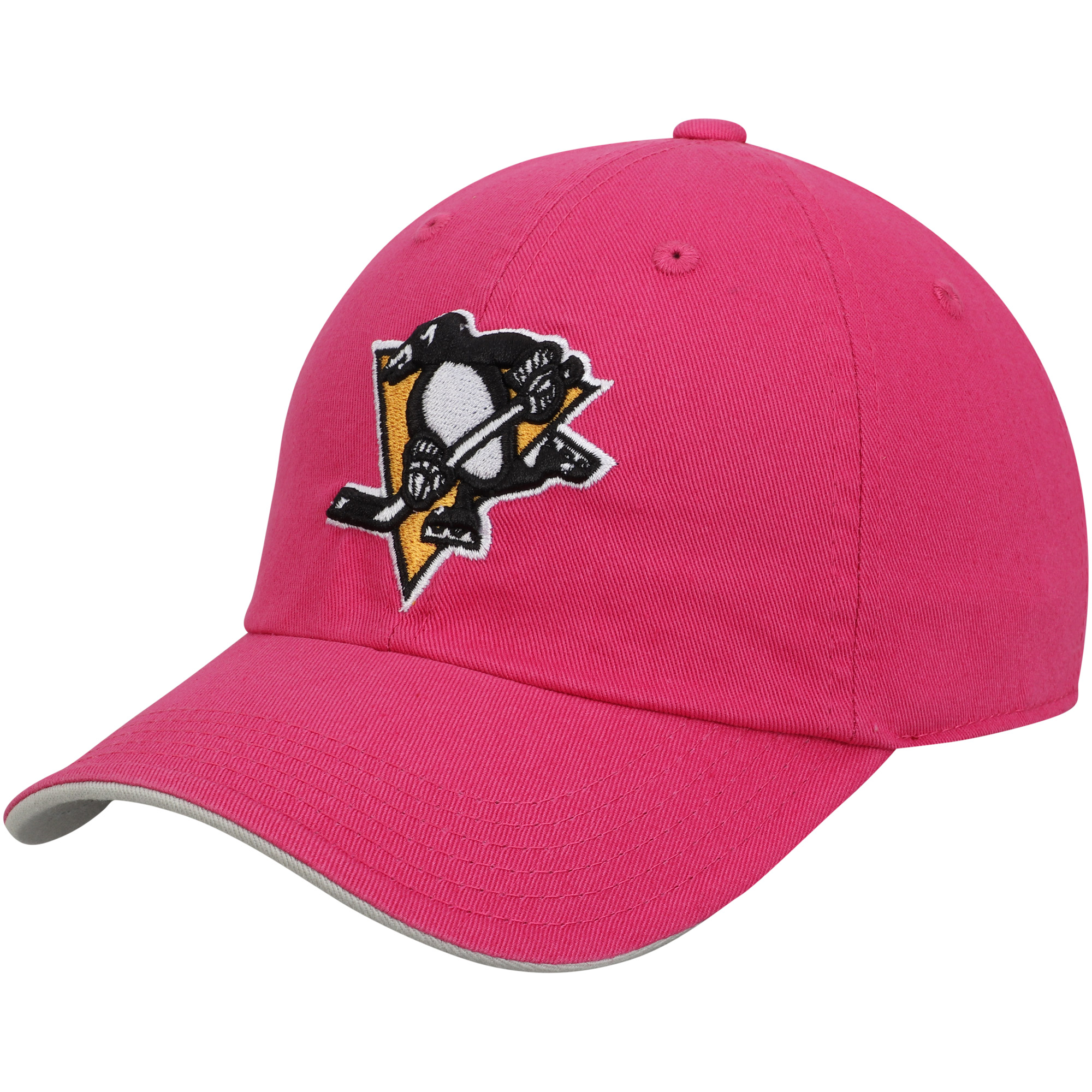 Pittsburgh Penguins Girls Youth Slouch Adjustable Hat - Pink - OSFA