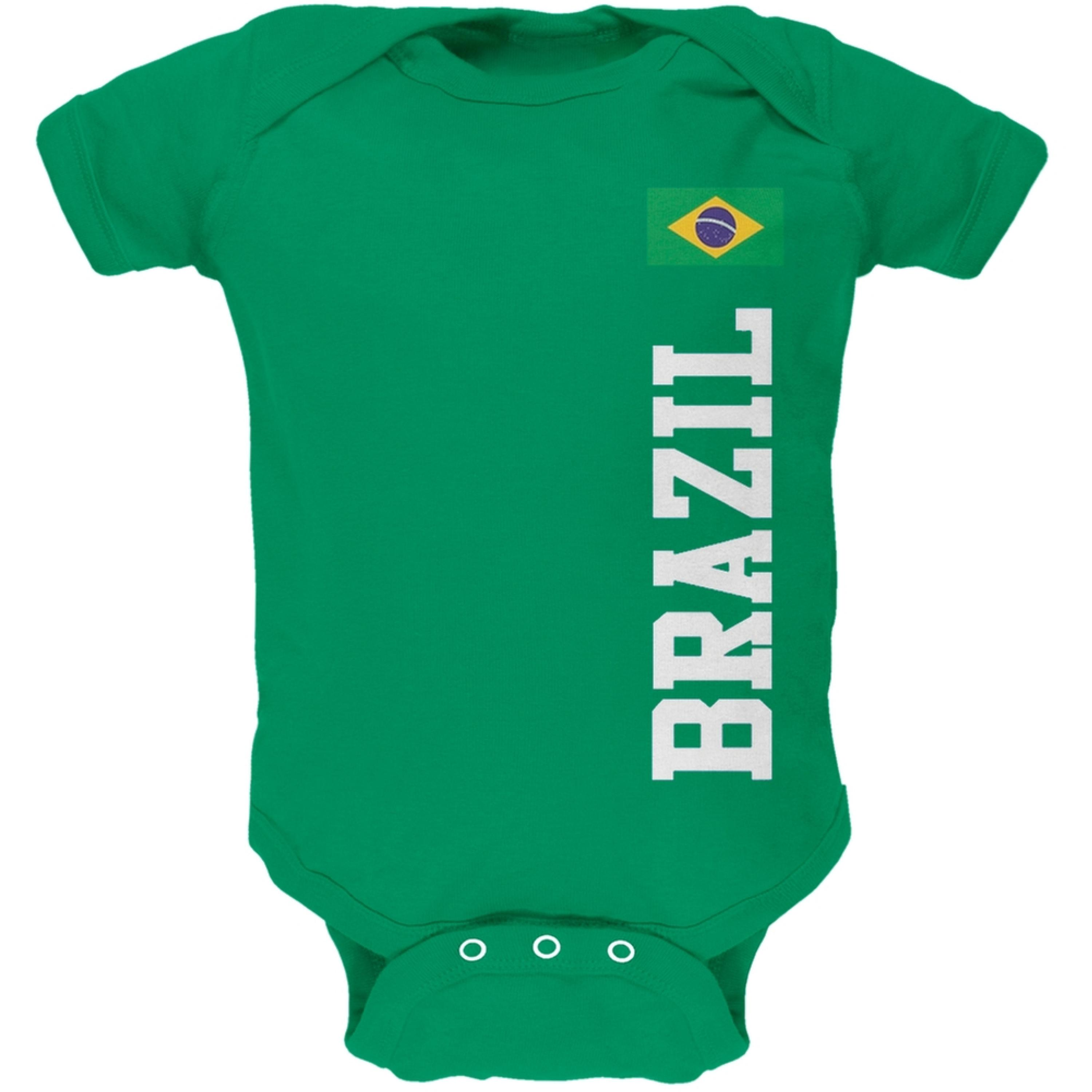 World Cup Brazil Green Baby One Piece