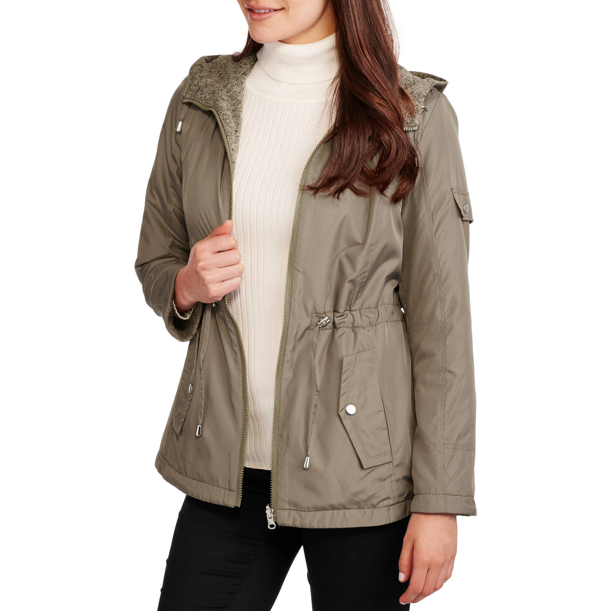 Faded Glory Women's Reversible Anorak - Wear It Two Ways!