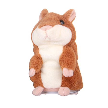 GAMT Talking Hamster Repeats What You Say for Boy and Girl Gift Brown (Boy Hamsters)