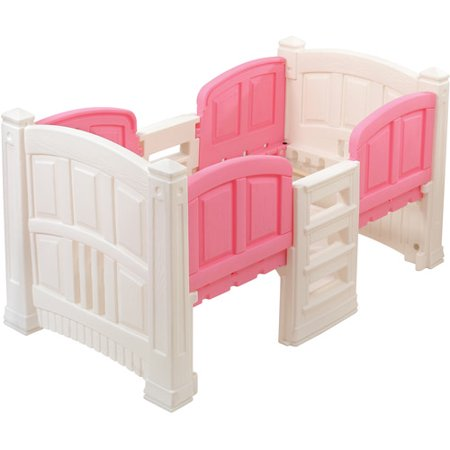 Step2 Loft Twin Bed With Storage White And Pink