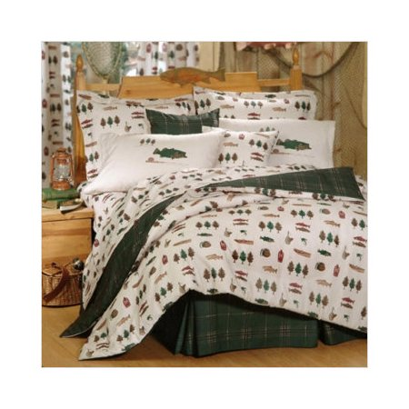 Fish catch comforter set twin for Fish bedding twin