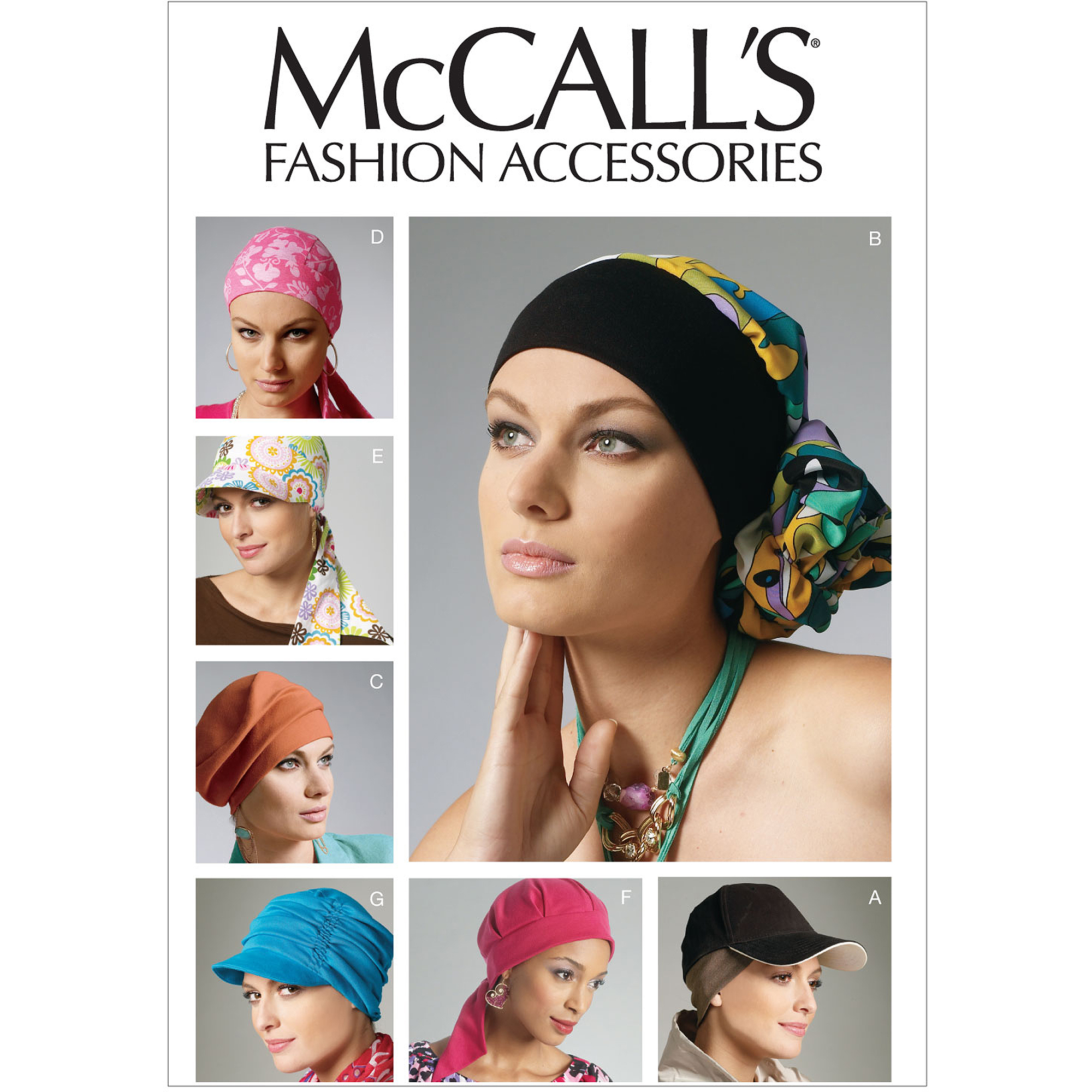 McCall's Pattern Headband, Head Wraps and Hats, All Sizes
