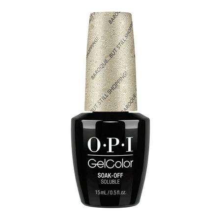 OPI GelColor Gel Nail Polish, Baroque..But Still Shopping!, 0.5 Fl Oz Silver Staining Gel