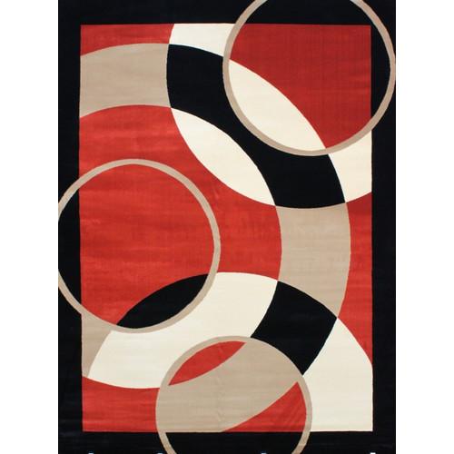 Persian-rugs Modern Orange Area Rug