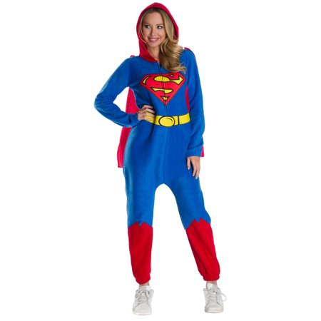 Superman Onesies For Adults (Halloween DC Super Heroes Superman Women's Onesie)