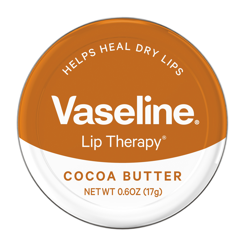 Vaseline Cocoa Butter Lip Balm Tin, 0.6 oz