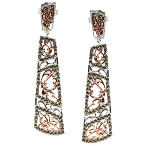 Dallas Prince  Sterling Silver Marcasite Dangle Earrings