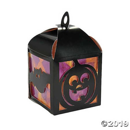 Making Halloween Crafts At Home (3D Halloween Tissue Lantern Craft)