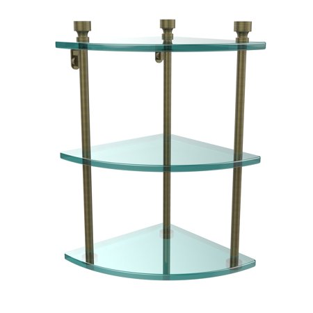 Allied Brass Foxtrot 3 Tier Corner Glass Shelf Allied Brass Triple Glass Shelf