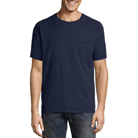 Hanes Men's ComfortWash Garment Dyed Short Sleeve Pocket T-Shirt (Pigment Dyed Short Sleeve Tee)