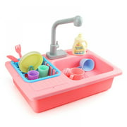 Patgoal Water Table Toys for Girls Girl Toys Outdoor Playset Water Toys Water Table for Toddlers 1-3 Girls Toys Baby Swings for Infants Playhouse Play Kitchen Kids Picnic Table Portable Sink Toys