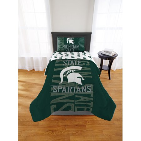 Michigan State Pillow Sham (NCAA Michigan State Spartans Affiliation Twin & Full Comforter Set, 1 Each)