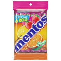 Mentos Mint Candy, Fruit, 1.32 oz Rolls (Pack of 6)