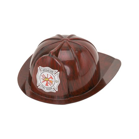 Child's Brushed Red Fireman Firefighter Chief Hat Costume Accessory](Red Fireman Costume)
