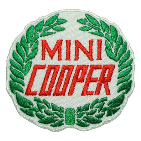 MINI COOPER BMW Motors Anniversary Racing Cars Logo Shirt CM12 Embroidered Patch 3 x 3 inches Logo Sew Ironed On Badge Embroidery Applique