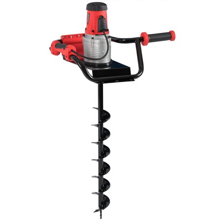 Arksen 1200W 1.6HP Electric Post Hole Digger Auger Earth Ice w/ 4 inch Auger Bits (Hole Digger Attachment)