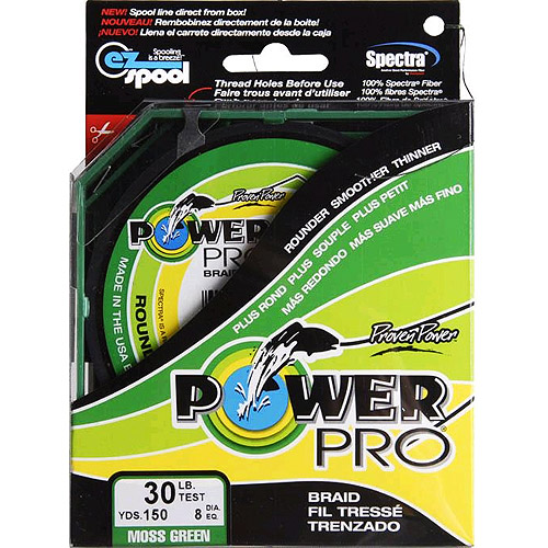 Power Pro Fishing Line - Moss Green, 150 yards, 30 lbs