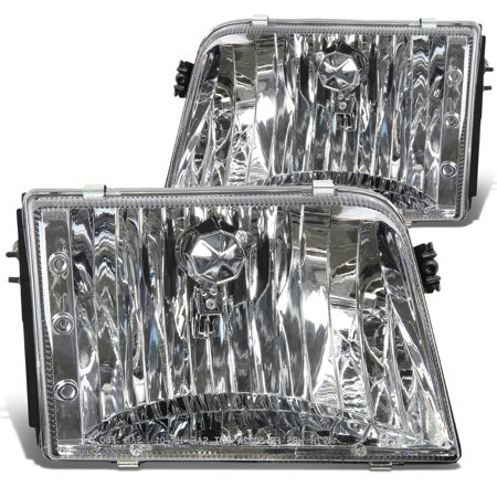 For 1993 to 1997 Ford Ranger Replacement Headlight Chrome Housing Headlamp 94 95 96 (Ford Ranger Headlight Replacement)