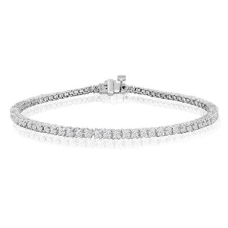 6 5 Inch 10k White Gold 1 7 8 Carat Diamond Tennis Bracelet
