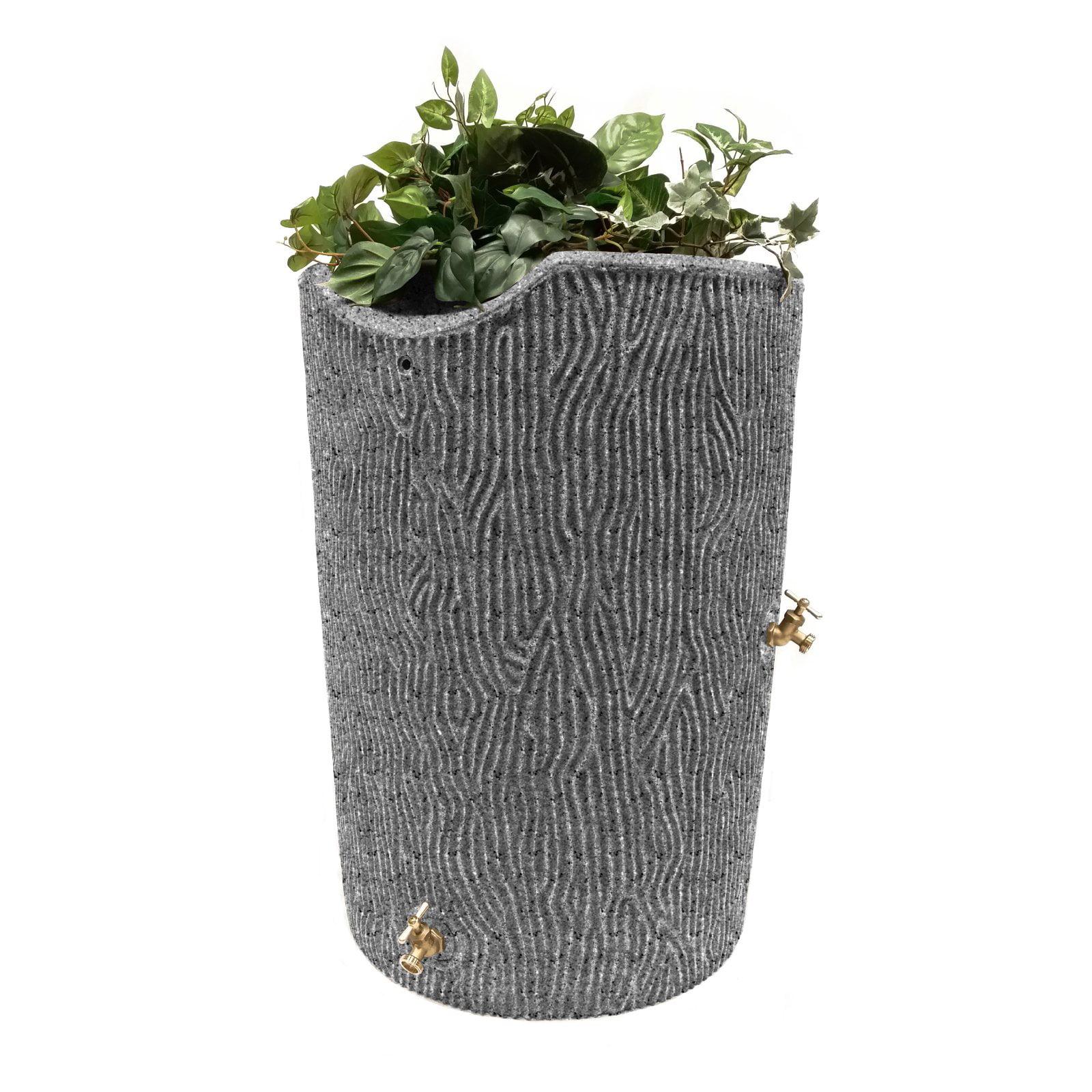 Impressions 50-Gallon Bark Rain Saver, Light Granite