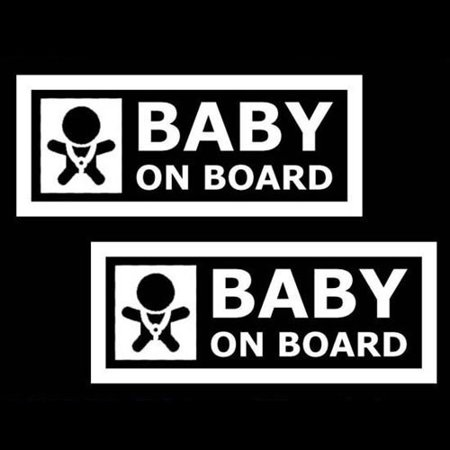Board Vinyl Decal Sticker (2x White 7